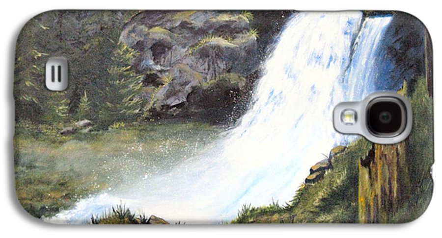 Forest Galaxy S4 Case featuring the painting Woodland Respite by Karen Stark