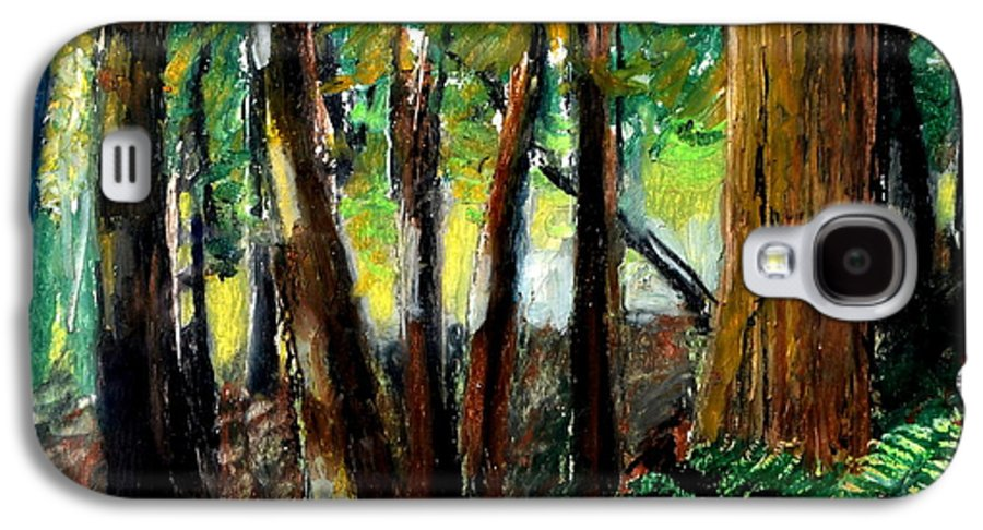 Livingston Trail Galaxy S4 Case featuring the drawing Woodland Trail by Michelle Calkins