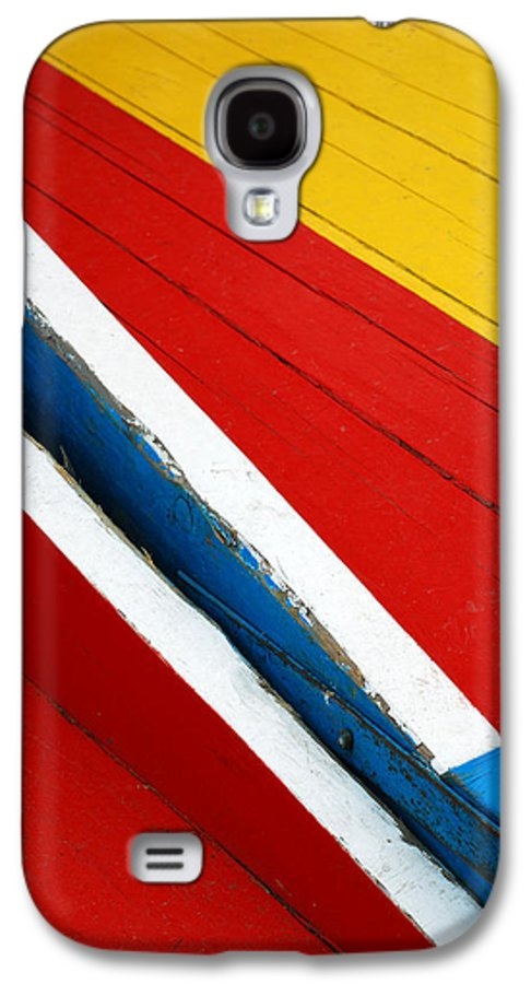 Red Galaxy S4 Case featuring the photograph Xochimilco Boat Abstract 1 by Skip Hunt