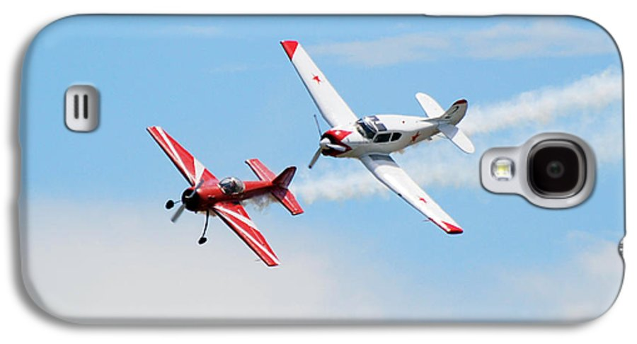 Airplanes Galaxy S4 Case featuring the photograph Yak 55 And Yak 18 by Larry Keahey