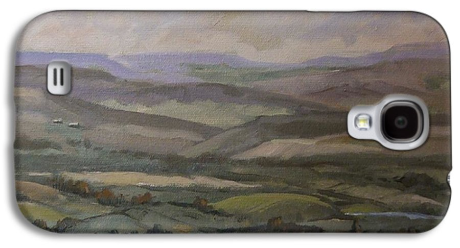 Landscape Water Trees Sky Hills Galaxy S4 Case featuring the painting Yakima Vista by Ruth Stromswold