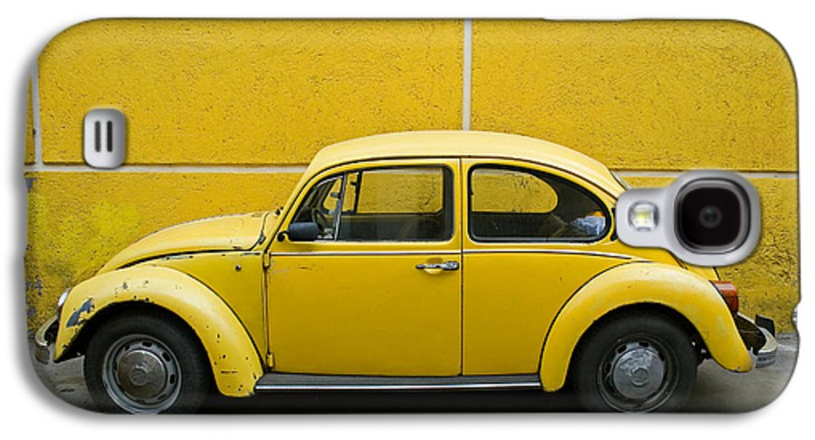 Yellow Galaxy S4 Case featuring the photograph Yellow Bug by Skip Hunt