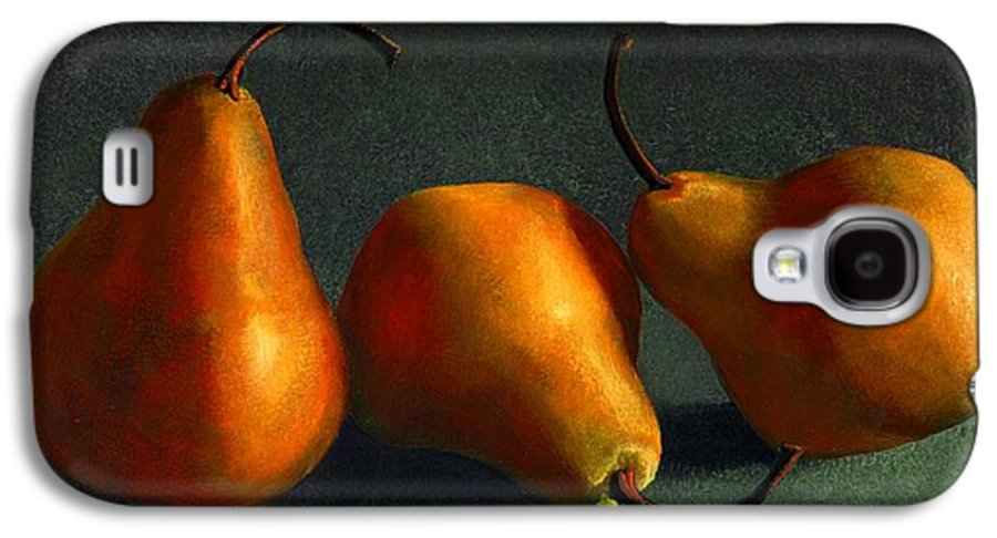 Still Life Galaxy S4 Case featuring the painting Yellow Pears by Frank Wilson