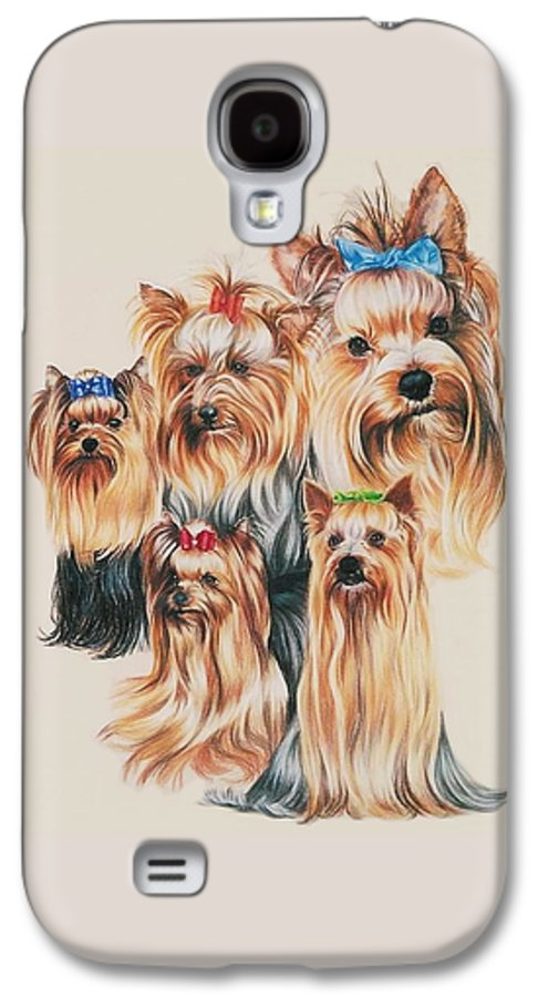Purebred Galaxy S4 Case featuring the drawing Yorkshire Terrier by Barbara Keith