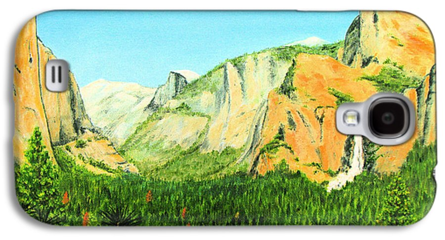 Yosemite National Park Galaxy S4 Case featuring the painting Yosemite National Park by Jerome Stumphauzer