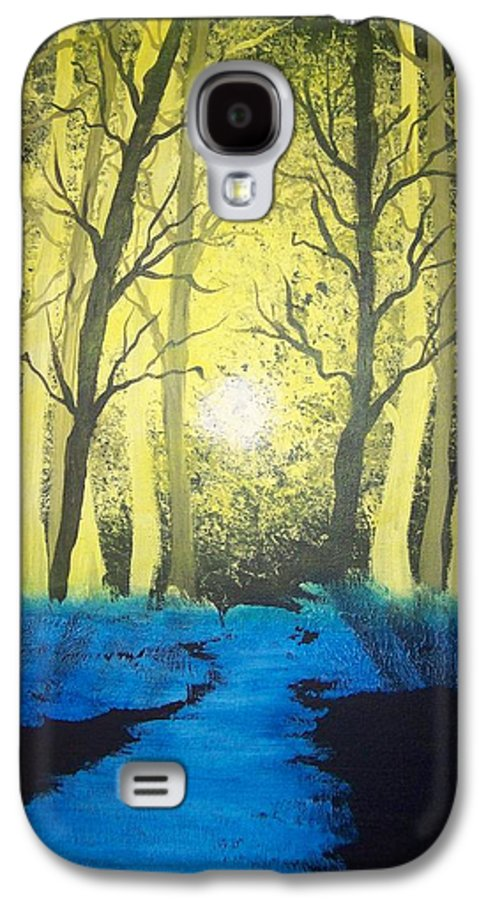 Forest Galaxy S4 Case featuring the painting You Cant See The Forest For The Trees by Laurie Kidd