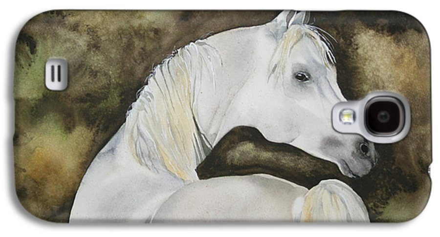 Horse Galaxy S4 Case featuring the painting You Talking To Me by Jean Blackmer