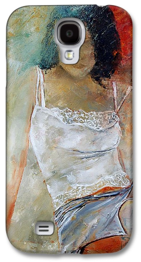 Nude Galaxy S4 Case featuring the painting Young Girl Sitting by Pol Ledent