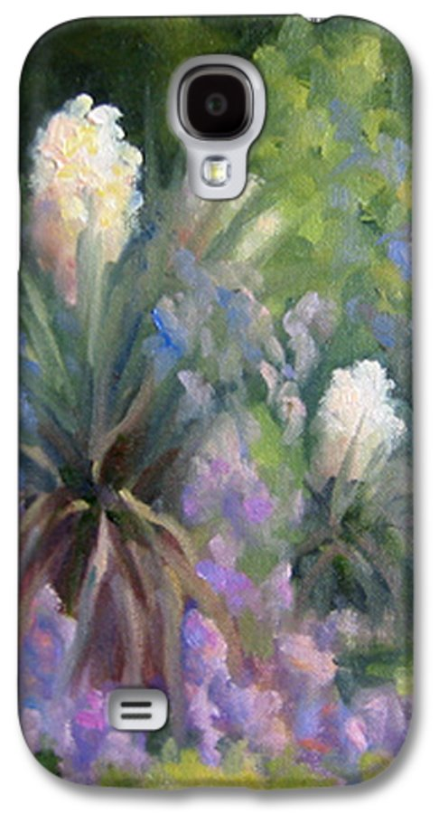 Yucca Galaxy S4 Case featuring the painting Yucca And Wisteria by Bunny Oliver
