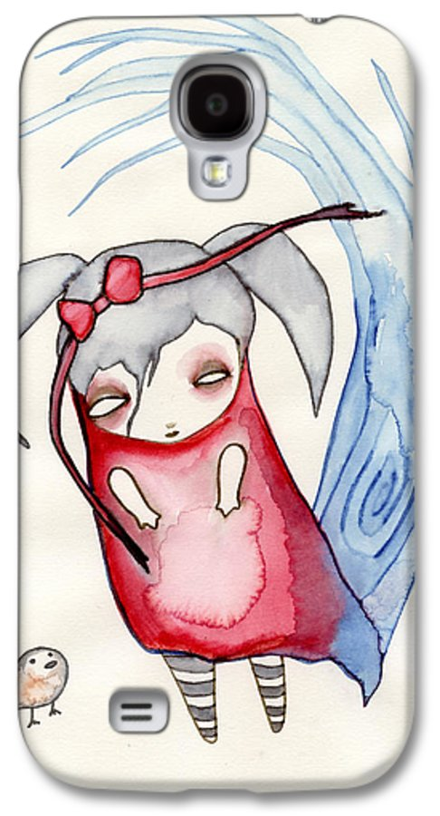 Girl Galaxy S4 Case featuring the painting Zeeroh Tew by Lindsey Cormier