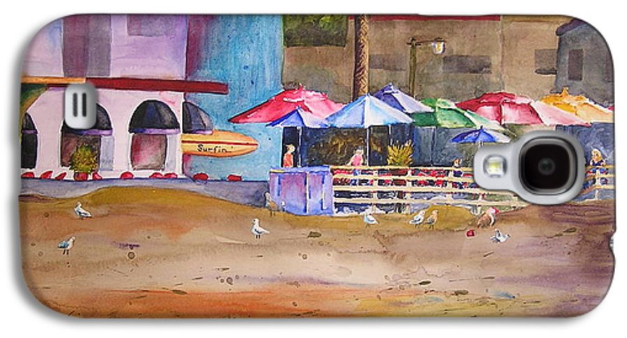 Umbrella Galaxy S4 Case featuring the painting Zelda's Umbrellas by Karen Stark