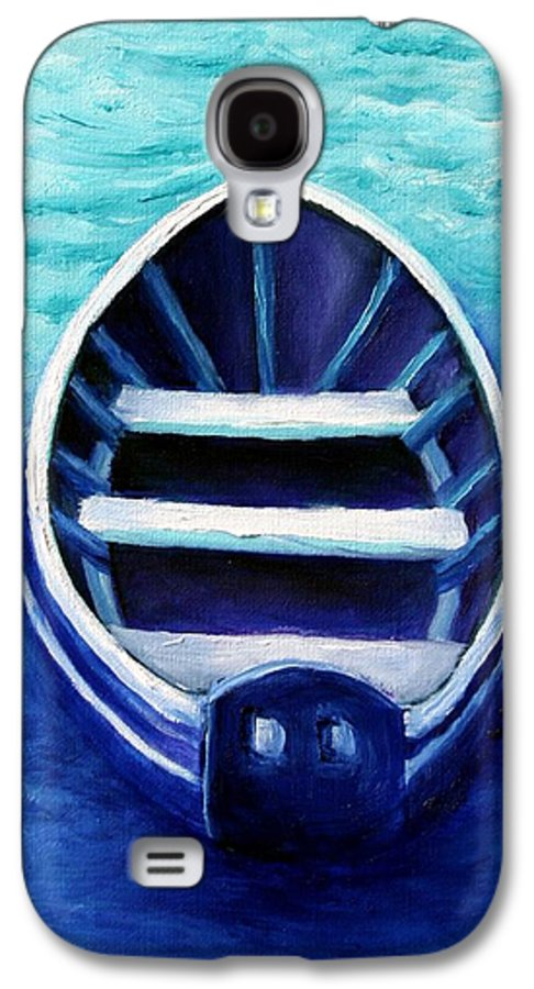 Boat Galaxy S4 Case featuring the painting Zen Boat by Minaz Jantz