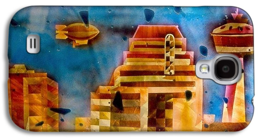 Landscape Galaxy S4 Case featuring the painting Zepplins Detail by Rick Silas
