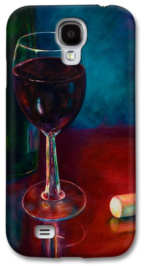 Wine Bottle Galaxy S4 Case featuring the painting Zinfandel by Shannon Grissom
