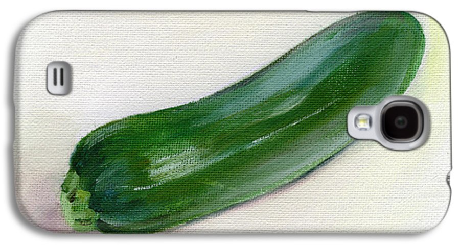 Food Galaxy S4 Case featuring the painting Zucchini by Sarah Lynch
