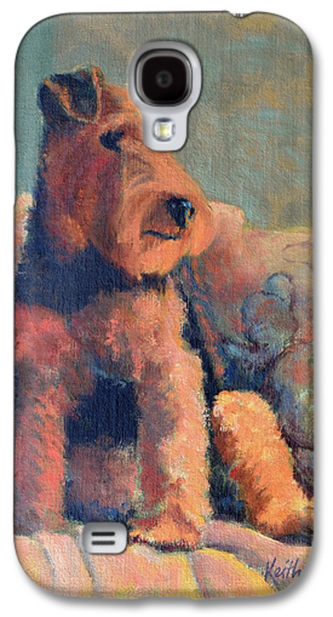 Pet Galaxy S4 Case featuring the painting Zuzu by Keith Burgess