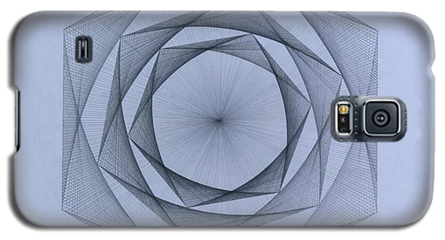 Jason Padgett Galaxy S5 Case featuring the drawing  Energy Spiral by Jason Padgett