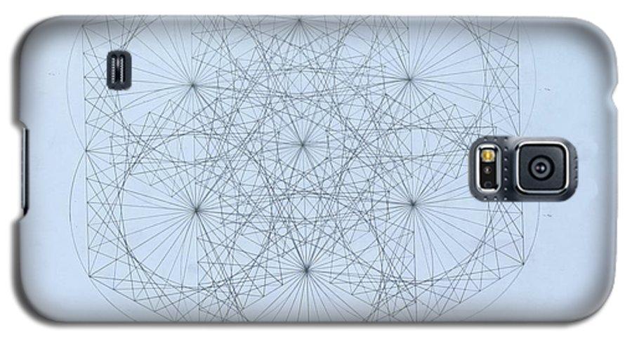 Jason Padgett Galaxy S5 Case featuring the drawing Quantum Snowflake by Jason Padgett