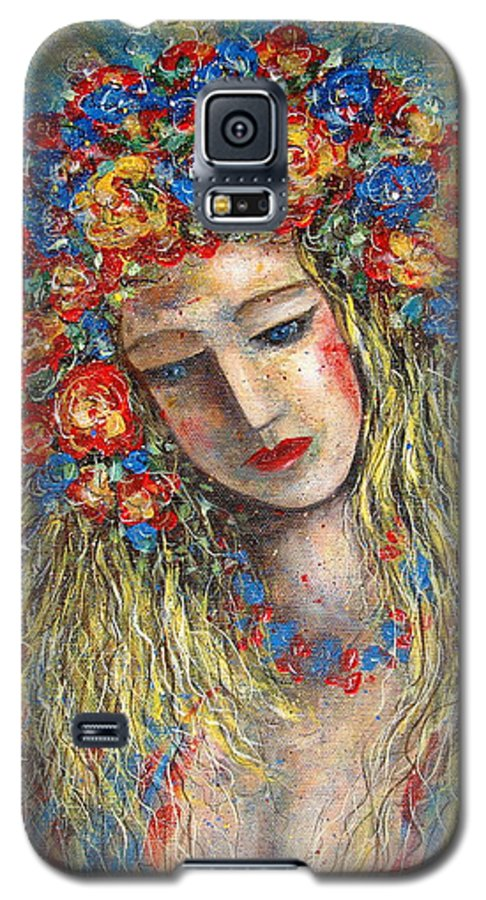 Painting Galaxy S5 Case featuring the painting The Loving Angel by Natalie Holland