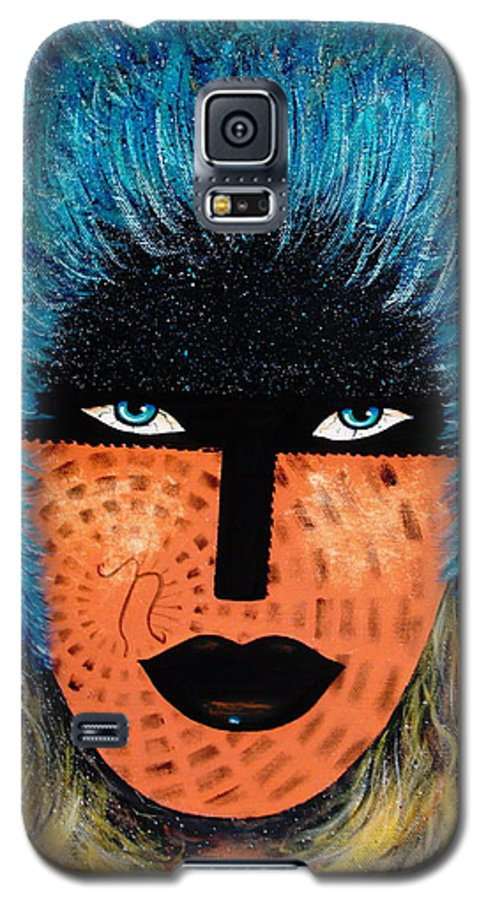 Woman Galaxy S5 Case featuring the painting Viva Niva by Natalie Holland