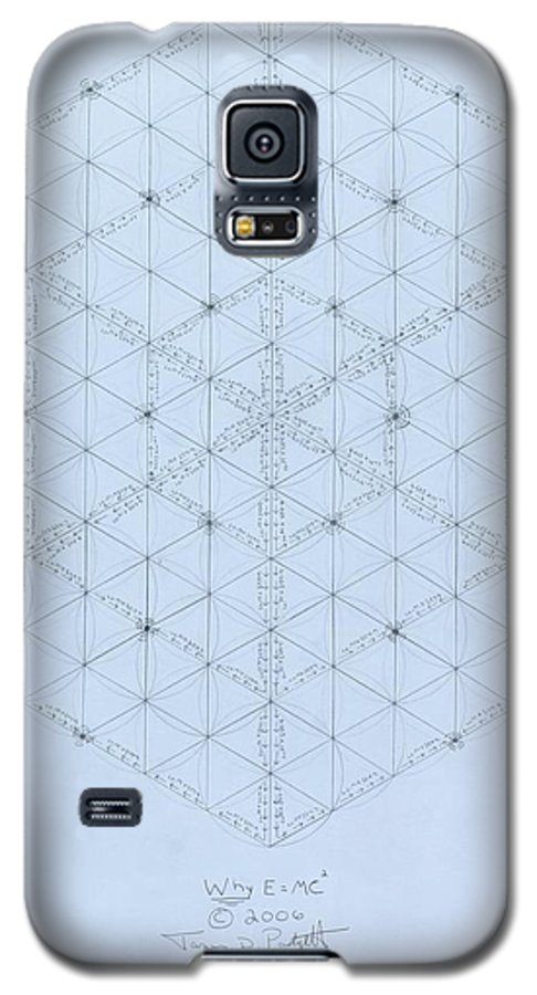 Energy Galaxy S5 Case featuring the drawing Why Energy Equals Mass Times The Speed Of Light Squared by Jason Padgett