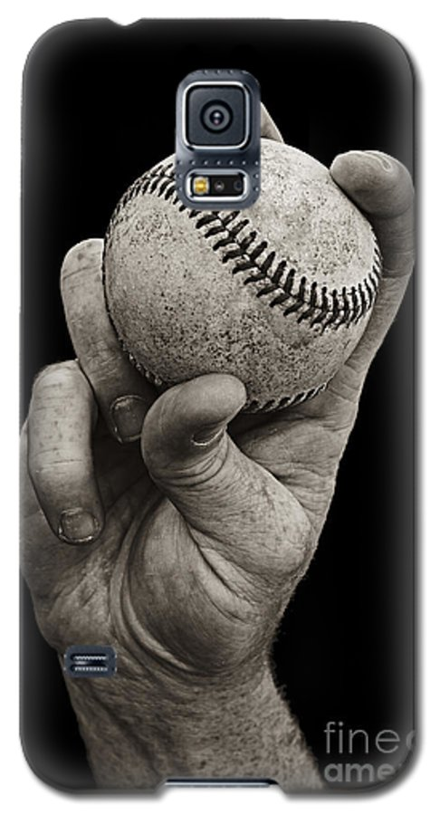 Baseball Galaxy S5 Case featuring the photograph Fastball by Diane Diederich