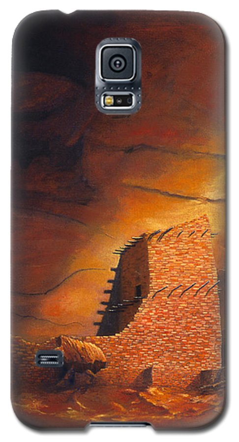 Mummy Cave Ruins Galaxy S5 Case featuring the painting Mummy Cave Ruins by Jerry McElroy