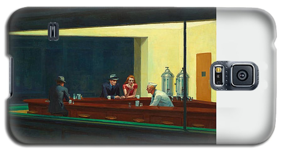 Diner Galaxy S5 Case featuring the painting Nighthawks by Edward Hopper