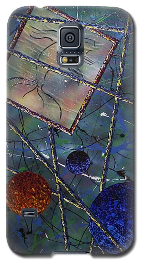 Fish Galaxy S5 Case featuring the painting Pisces by Micah Guenther