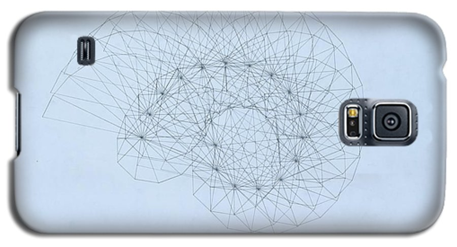 Jason Padgett Galaxy S5 Case featuring the drawing Quantum Nautilus by Jason Padgett