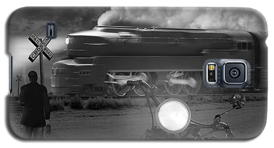 Transportation Galaxy S5 Case featuring the photograph The Wait by Mike McGlothlen