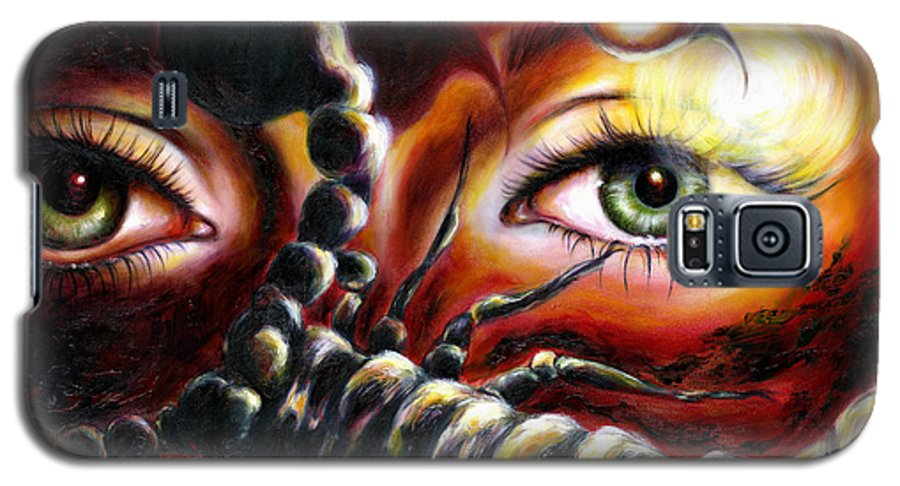 Horoscope Sign Galaxy S5 Case featuring the painting 12 Signs Series Scorpio by Hiroko Sakai