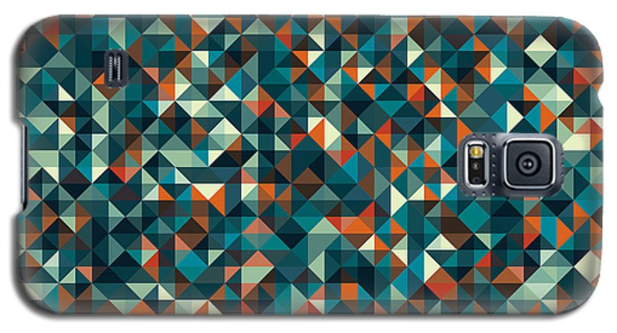 Pattern Galaxy S5 Case featuring the digital art Retro Pixel Art by Mike Taylor