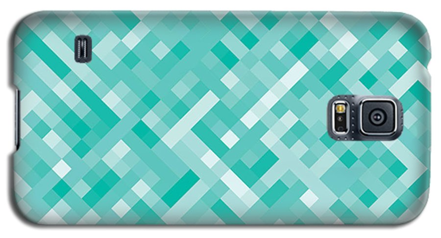 Abstract Galaxy S5 Case featuring the digital art Pixel Art 17 by Mike Taylor