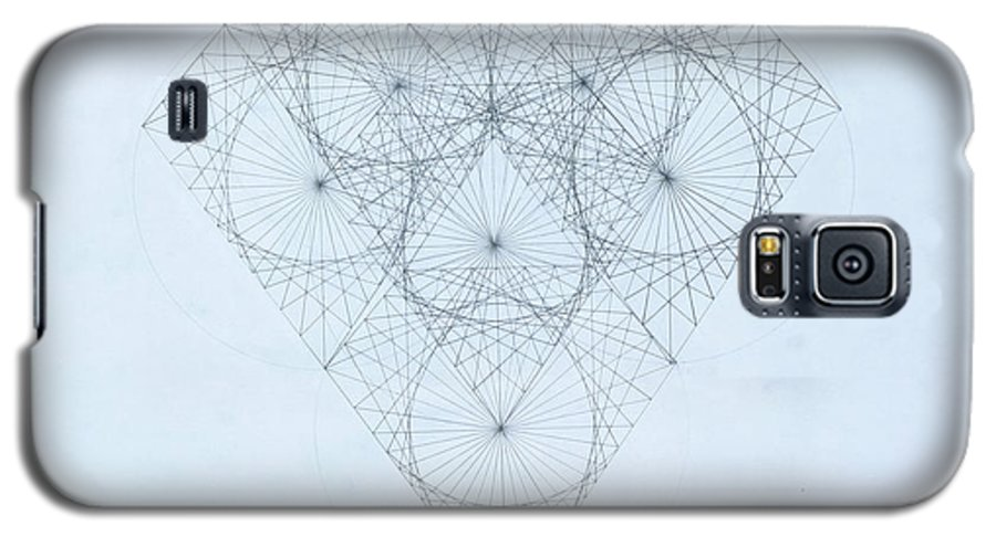 Jason Padgett Galaxy S5 Case featuring the drawing Diamond Quanta by Jason Padgett
