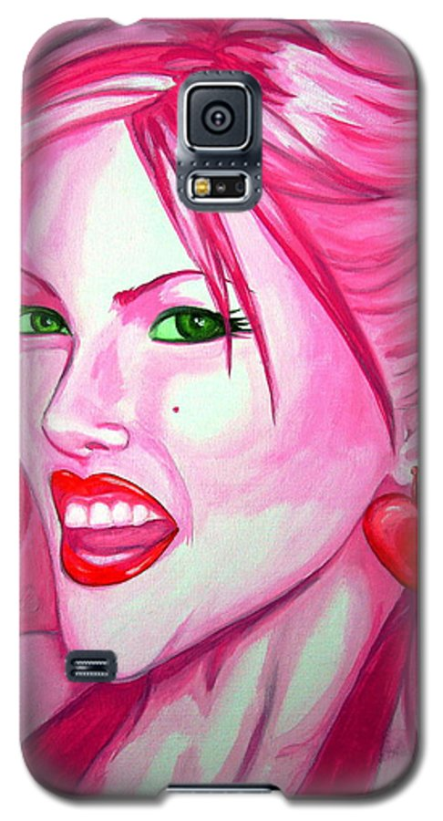 Anna Nicole Galaxy S5 Case featuring the painting Anna by Holly Picano