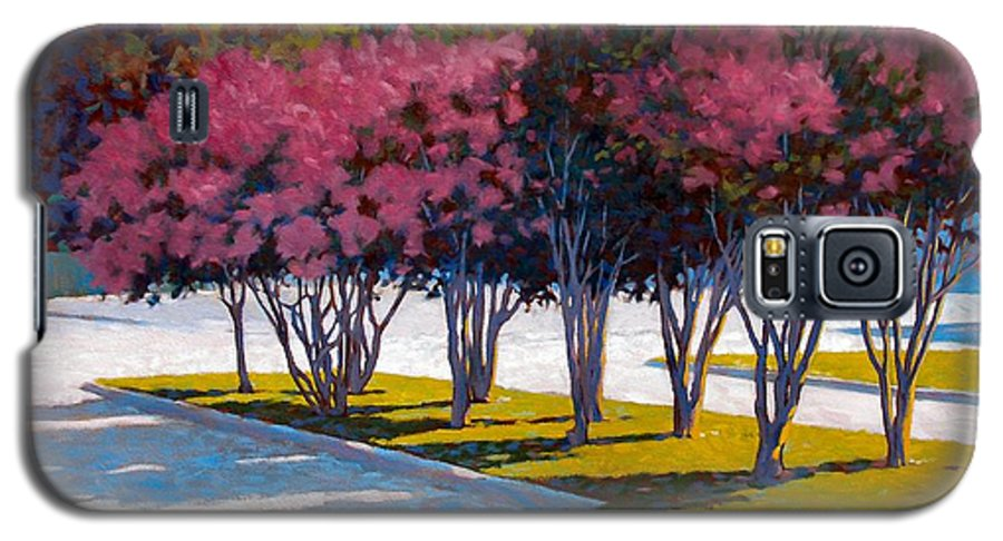 Crepe Myrtles Galaxy S5 Case featuring the painting Balanced Account by Kevin Lawrence Leveque
