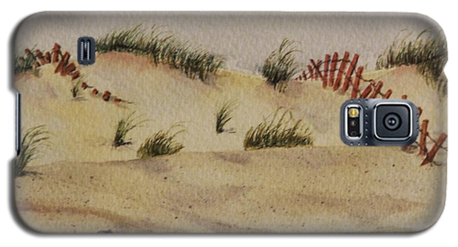 Sand Galaxy S5 Case featuring the painting Dunes by Mary Ellen Mueller Legault