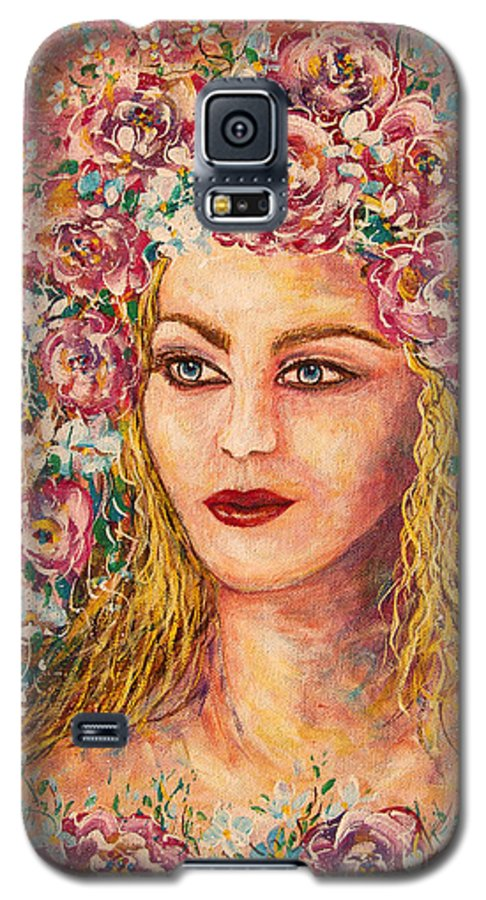 Goddess Galaxy S5 Case featuring the painting Good Fortune Goddess by Natalie Holland