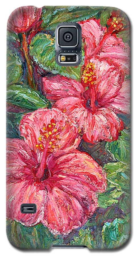 Hibiscus Galaxy S5 Case featuring the painting Hibiscus by Kendall Kessler