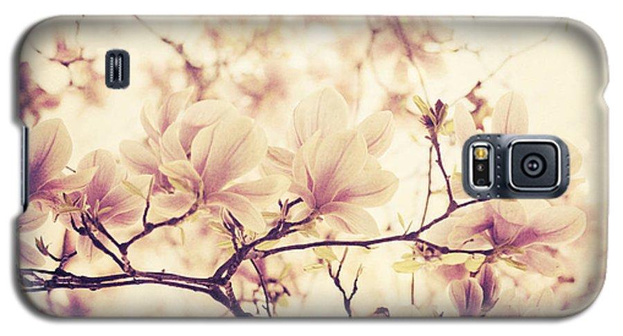 Magnolia Galaxy S5 Case featuring the pyrography Magnolia by Jelena Jovanovic