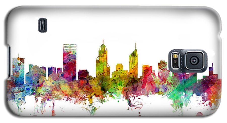 Perth Galaxy S5 Case featuring the digital art Perth Australia Skyline by Michael Tompsett
