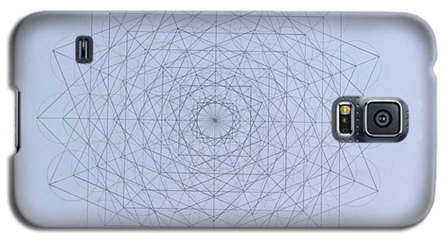Jason Galaxy S5 Case featuring the drawing Quantum Foam by Jason Padgett