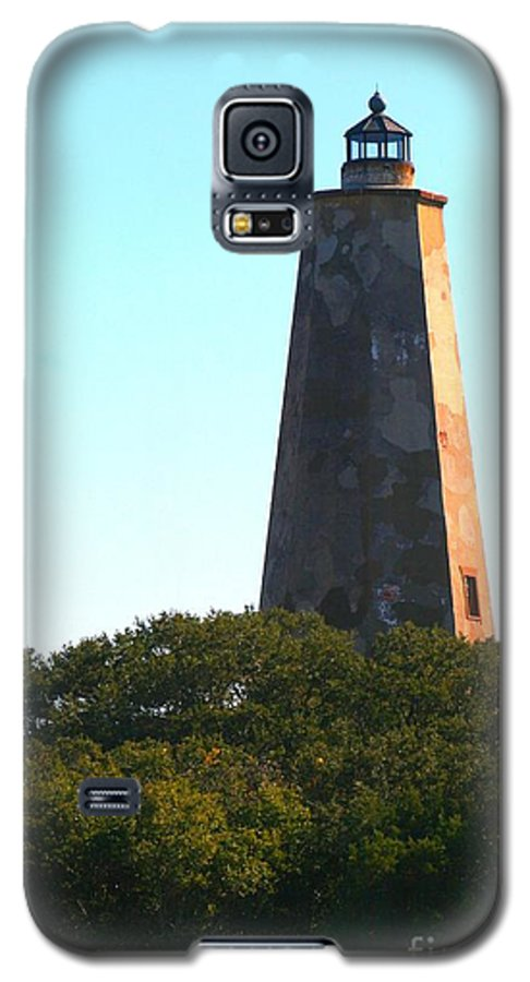 Lighthouse Galaxy S5 Case featuring the photograph The Lighthouse by Nadine Rippelmeyer