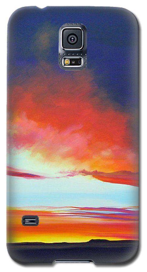 Landscape Galaxy S5 Case featuring the painting The Long Way Home by Hunter Jay