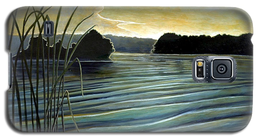 Rick Huotari Galaxy S5 Case featuring the painting What A Beautifull Morning by Rick Huotari