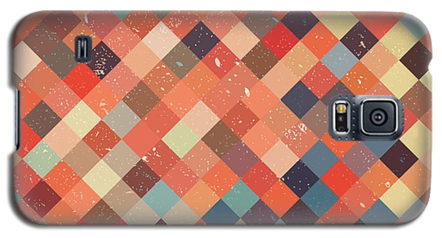 Abstract Galaxy S5 Case featuring the digital art Pixel Art 27 by Mike Taylor