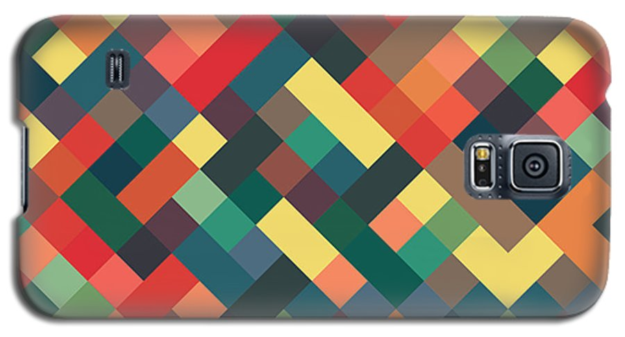 Abstract Galaxy S5 Case featuring the digital art Pixel Art by Mike Taylor