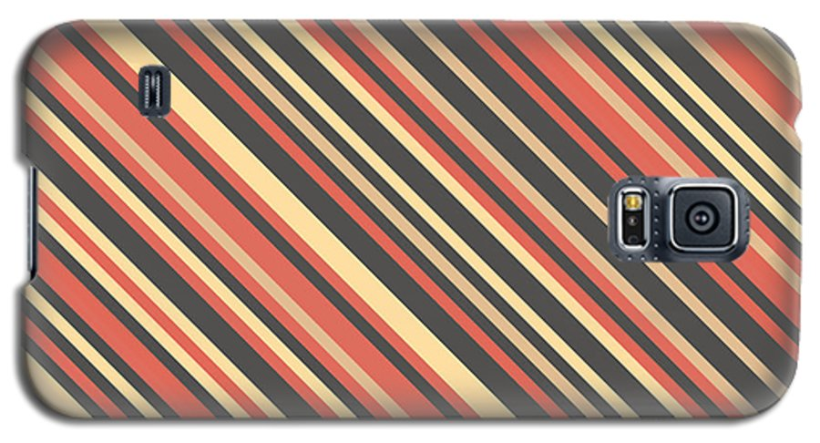 Abstract Galaxy S5 Case featuring the digital art Striped Pattern 4 by Mike Taylor