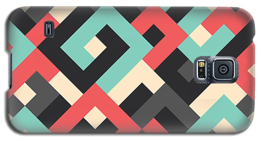 Abstract Galaxy S5 Case featuring the digital art Pixel Art 48 by Mike Taylor
